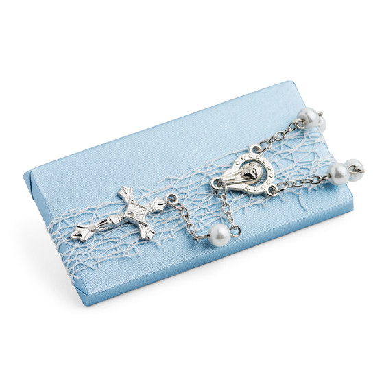 Christening Decorated Chocolate W/ Mini Rosary Cross Bracelet