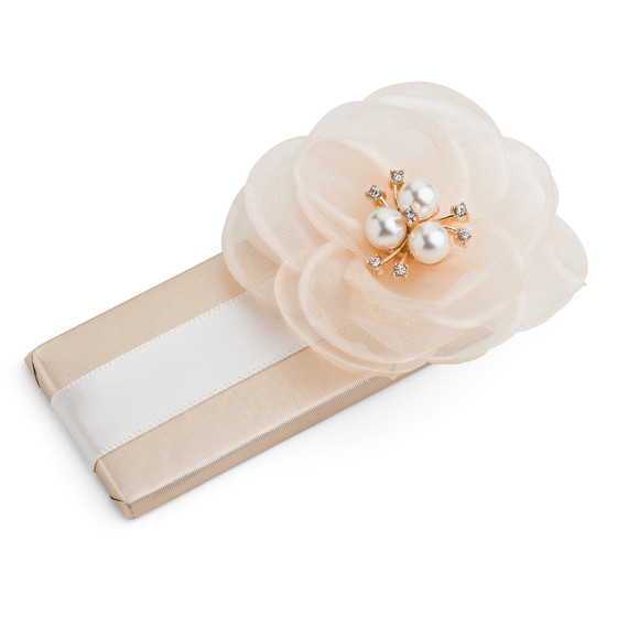 Decorated Chocolate Bar/Organza Flower