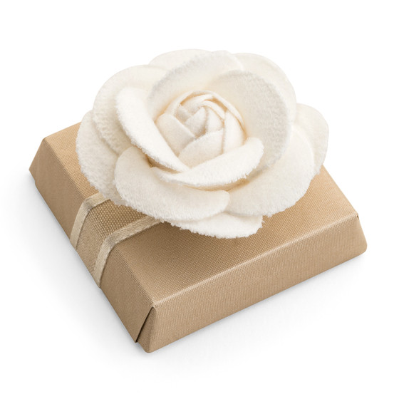 Chanel Flower on a Square Chocolate Bar