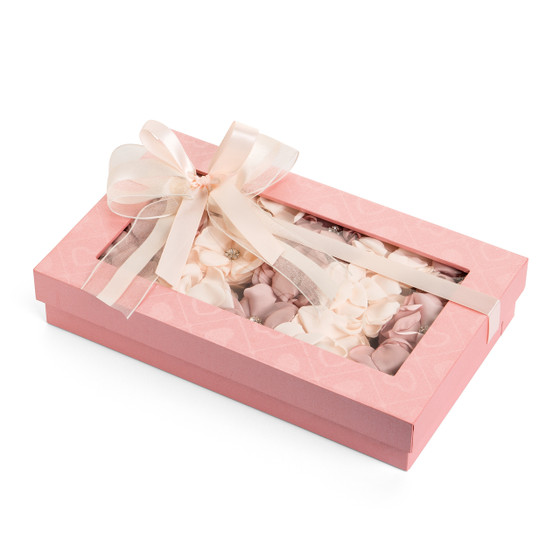Decorated Chocolate with Organza flower Gift Box