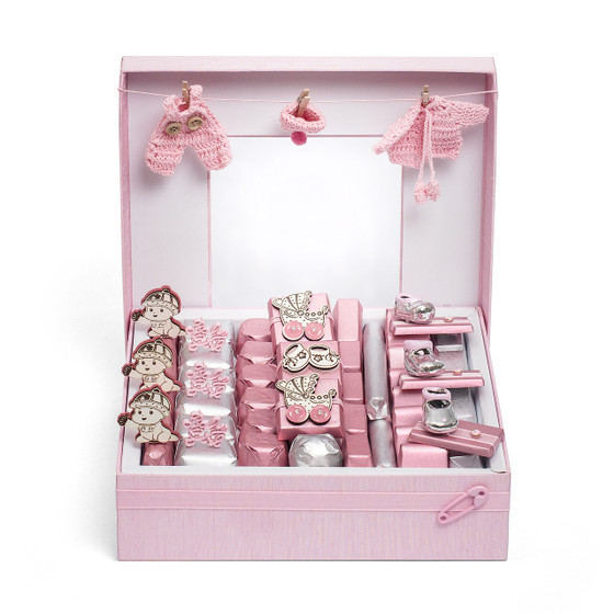 Baby Shower Vintage Baby Girl Chocolate