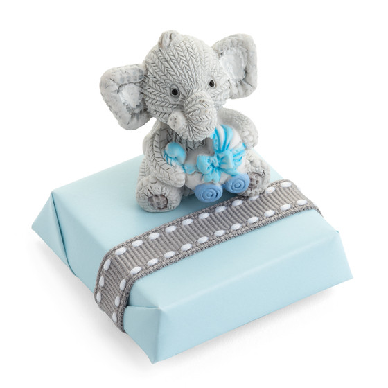 Baby Shower Chocolate Favor with a Bear Motif Decoration/Blue