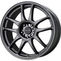 Drag Wheels DR-31 17x7 5x100 5x114.3 Gun Metal Machined Face rims