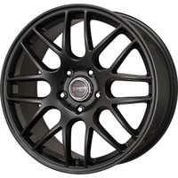 Drag Wheels DR-37 15x7 4x100 et25 Flat Black Mesh rims