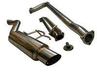 Tsudo 2012 + Civic Si K24 Sedan 70mm S2 JDM Slanted Catback Exhaust