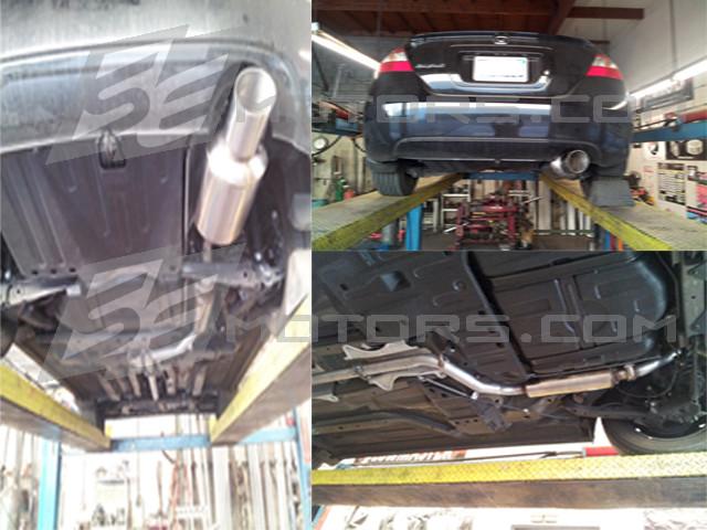 Civic 2009 4dr catback exhaust evo style muffler
