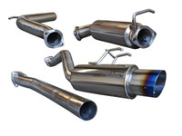 Tsudo 12 + Civic Si K24 Sedan S2 JDM Slanted Burnt Tip Catback Exhaust
