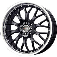 Drag Wheels DR-19 16X7 5/108-115 Gloss Black polished lip rims