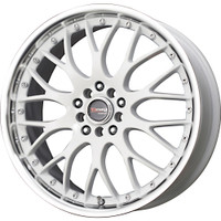 Drag Wheels DR-19 17X7.5 5/100-114.3 White polished lip rims