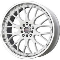 Drag Wheels DR-19 18X7.5 5/100-114.3 White polished lip rims