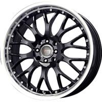 Drag Wheels DR-19 18X7.5 5/112 Gloss Black polished lip rims