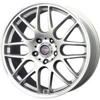 Drag Wheels DR-37 20X8.5 5/112 +20 offset Silver Full Mesh rims