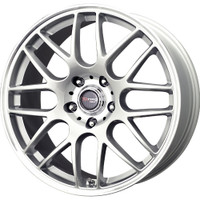 Drag Wheels DR-37 20X8.5 5/112 +20 offset Silver Full Mesh rims