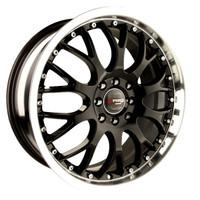 Drag Wheels DR-19 17x7.5 5x115 5x108 Gloss Black Machined Lip rims