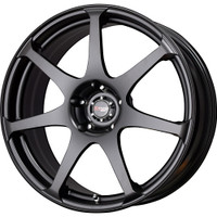 Drag Wheels DR48 17X9 4x114 +17 offset Matte Black 7-Spoke rims