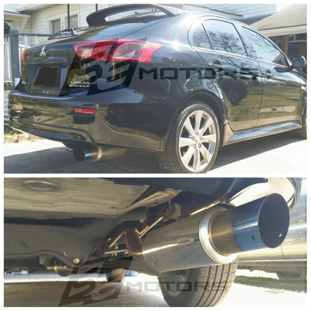 Tsudo 12-15 Mitsubishi Lancer SportsBack DE ES GT S2 Burnt Tip Axleback Exhaust (22-9201)