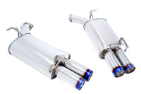 Megan Racing 05-10 Inifiniti M35/M45 Burnt Rolled Tip AxleBack Exhaust