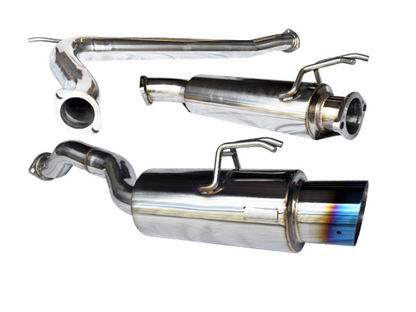 Tsudo 06-10 K20 Civic Si Sedan 70mm S2 Burnt Tip Catback Exhaust v2 (20-9364-A)