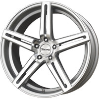 Drag Wheels DR60 20x10 5/114 +23 offset Silver Machined 5-Spoke rims