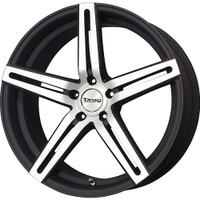 Drag Wheels DR60 20x10 5/114 +23 offset Matte Mach. Black 5-Spoke rims
