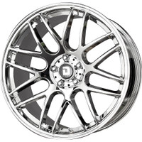 Drag Wheels DR37 20x10 5/115 +25 Offset Virtual Chrome Mesh rims