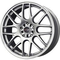 Drag Wheels DR-34 18x8 5/108-115 Silver Machined Lip Mesh rims