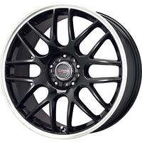 Drag Wheels DR-34 18x8 5/108-115 Black lip Mesh rims