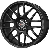 Drag Wheels DR-34 18x8 5/100-114 Matte Black Mesh rims