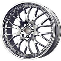 Drag Wheels DR19 17x7.5 5/108-115 Virtual Chrome Mesh rims