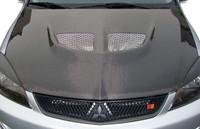 2004-2007 Mitsubishi Lancer Carbon Creations Evo Hood