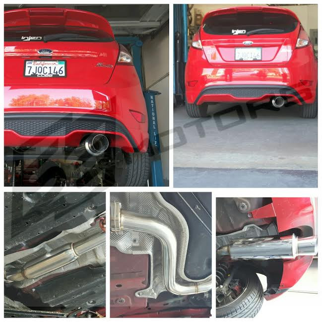 free shipping on tsudo 2013 ford fiesta st 1 6 turbo single exit s2 cat back exhaust. Black Bedroom Furniture Sets. Home Design Ideas