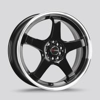 Drag Wheels Dr-63 18x8 5x112 5x120 Black et40 5 spoke Rims