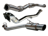 Tsudo 08-12 Impreza WRX / STI Wagon S2 JDM Catback + Hi-Flow Catalytic Downpipe Exhaust (20-9365 + 20-1229)