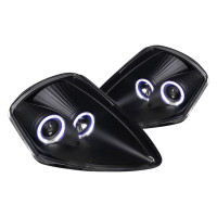 Junyan 00-05 Mitsubishi Eclipse Projector Black Headlights lhp-elp00jm-abm