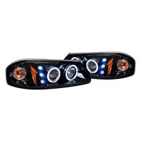 Junyan 00-05 Chevy Impala Projector Glossy Blk W Smk Lens Headlights 2lhp-ipa00g-tm
