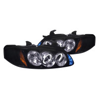 Junyan 00-03 Nissan Sentra Projector Glossy Blk W Smk Lens Headlight 2lhp-sen00g-tm