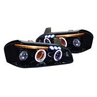 Junyan 00-01 Nissan Maxima Projector Glossy Blk W Smk Lens Headlights lhp-max00g-tm
