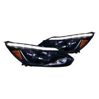 Junyan 12-Up Ford Focus Projector Glossy Black W LED DTRL Headlights 2lhp-foc12g-tm