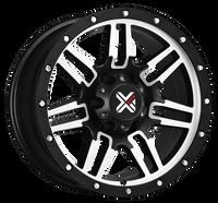 DX4 15x8 Type 7S 5/127 flat black machined 4x4 off road wheels