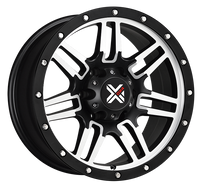 DX4 15x8 Type 7S 5/127 flat black machined 4x4 off road wheels