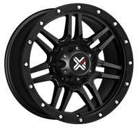 DX4 16x8.5 Type 7S 5/127 flat black 4x4 off road wheels