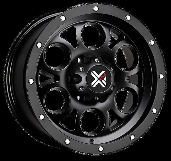 DX4 15x8 Type TUFF 5/127 flat black 4x4 off road wheels