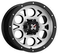 DX4 15x8 Type TUFF 5/127 flat black machined 4x4 off road wheels