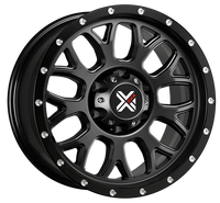 DX4 15x8 Type GEAR 5/127 flat black 4x4 off road wheels