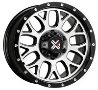 DX4 15x8 Type GEAR 5/127 flat black machined 4x4 off road wheels