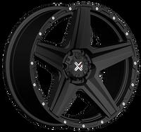 DX4 20x9 Type DEATH STAR 5/150 flat black 4x4 off road wheels