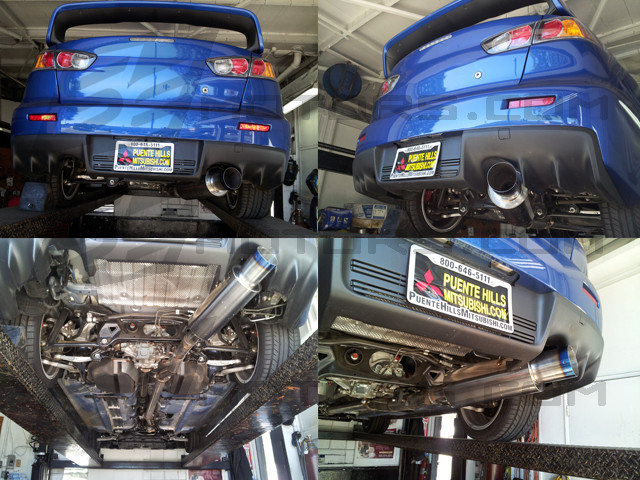 Tsudo 08-16 Evo X 3in Single Exit Catback Titanium Burnt Tip Exhaust