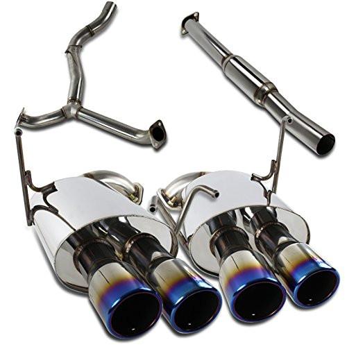 Spec-D WRX 15+ STI 08-14 4Dr Quad Ti-Tip Catback JDM Exhaust (MFCAT3-WRX084QT-SD)
