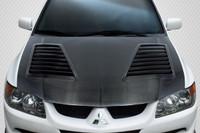 Carbon Creations 2003-2006 Mitsubishi Lancer Evolution 8 9 DriTech Track Hood - 1 Piece
