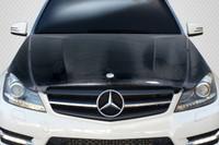 Carbon Creations 2012-2014 Mercedes C Class W204 C63 Look Hood - 1 Piece